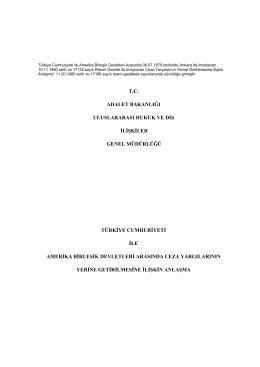 tc adalet bakanlığı uluslararası hukuk ve dış ilişkiler genel