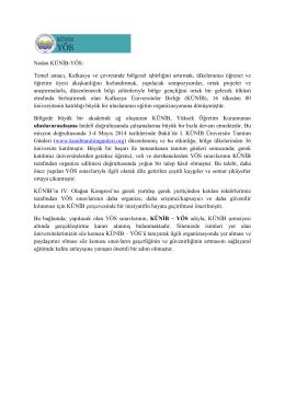 Neden KÜNİB-YÖS - Kafkasya Üniversiteler Birliği