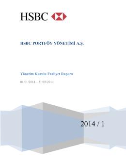 2014-1. Ara Dönem Faaliyet Raporu