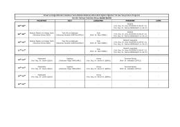 dersler - Ziraat ve Doğa Bilimleri Fakültesi