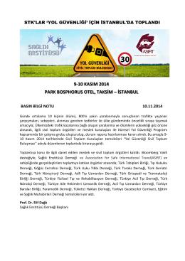9-10 kasım 2014 park bosphorus otel, taksim – istanbul