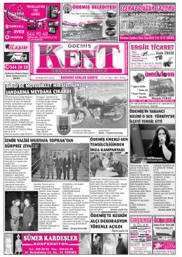 19-12-2014 Tarihli Kent Gazetesi