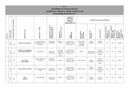 T.C. KEÇĠÖREN KAYMAKAMLIĞI Aydınlıkevler Mesleki ve Teknik