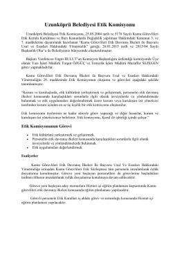 Uzunköprü Belediyesi Etik Komisyonu