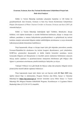 Ergan Altyapı Basın ihale duyurusu