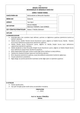 Yazı İşleri - Bingöl Üniversitesi