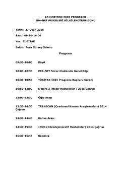 Program - AB Horizon 2020 Çerçeve Programı