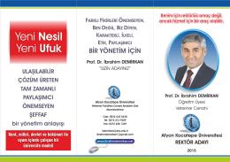 BİR YÖNETİM İÇİN - Prof.Dr.İbrahim Demirkan