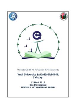 Yeşil Üniversite & Sürdürülebilirlik Çalıştayı