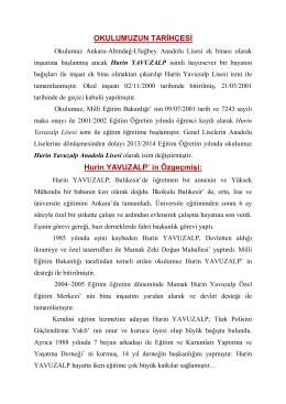 Hurin YAVUZALP - Milli Eğitim Bakanlığı