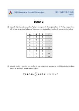 BİL264L/ELE263L Deney 2