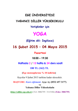 Yoga - Yabancı Diller Bölümü