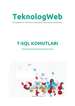 t-sql komutları PDF
