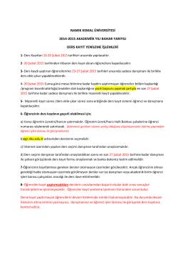 namık kemal üniversitesi 2014-2015 akademiik yılı - E
