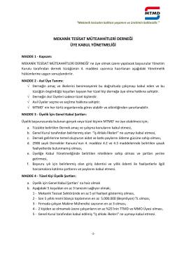 MTMD Üyeli Kabul Dokümanı PDF formatında indirmek için tıklayınız
