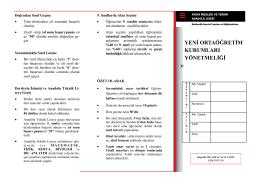 Ortaöğretim sisteminde dikkat edilecek hususlar (El Broşürü)
