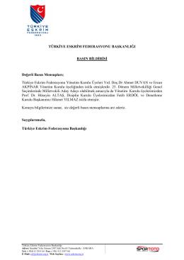 kurul istifa sonnn - Türkiye Eskrim Federasyonu