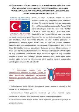Nilüfer Nur-Hayati KURTCAN Mesleki ve Teknik Anadolu Lisesi