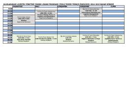 ULY yüksek lisans bahar dönemi programı-1