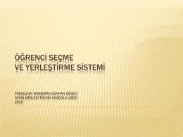 2010 ÖSYS SİSTEMİ