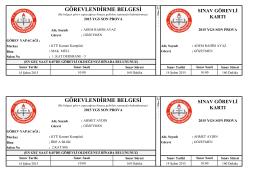 görevlendirme belgesi - Trabzon Milli Eğitim Müdürlüğü