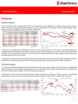 16 Şubat 2015 tarihli piyasa yorumu