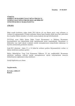 İstanbul, 06 - İstanbul Serbest Muhasebeci Mali Müşavirler Odası