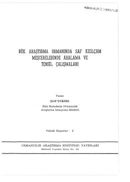 020 - Doğu Karadeniz Ormancılık Araştırma Enstitüsü Müdürlüğü