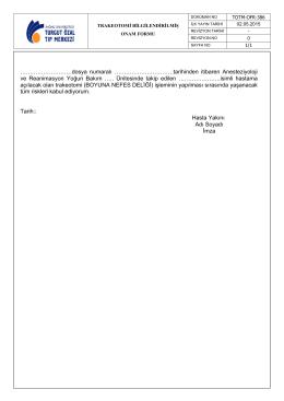 TOTM-OFR-386 Trakeotomi Bilgilendirilmiş Onam Formu