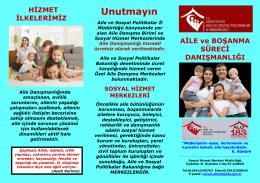 BİZ GELECEĞİZ - Çorum Aile ve Sosyal Politikalar İl Müdürlüğü