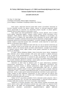 58. Türkiye Milli Pediatri Kongresi ve 13. Milli Çocuk Hemşireliği
