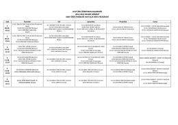 AÖA Sınıf Öğretmenliği Ders Programı
