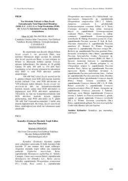408 PB220 Tuz Stresinin Triticale ve Bazı Secale Taksonlarında