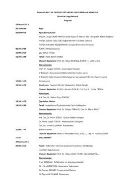 Program - Tamamlayıcı ve Destekleyici Bakım Uygulamaları Kongresi