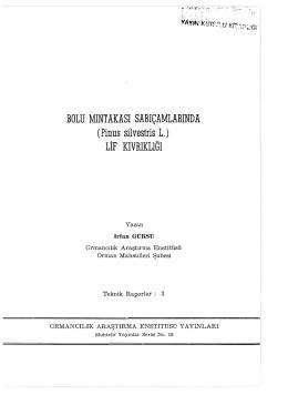 019 - Doğu Karadeniz Ormancılık Araştırma Enstitüsü Müdürlüğü