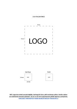NOT: Logo kare olmak zorunda değildir, herhangi bir form, şekil