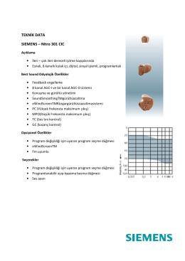 TEKNİK DATA SIEMENS – Nitro 301 CIC