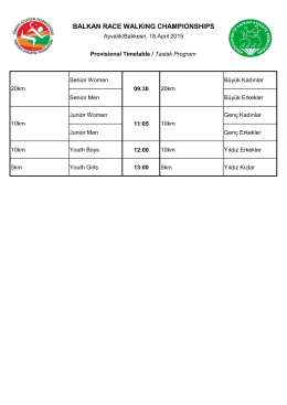 Balkan Indoor Timetable 2014