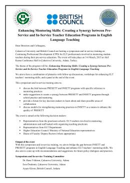 Symposium:Enhancing Mentoring Skills