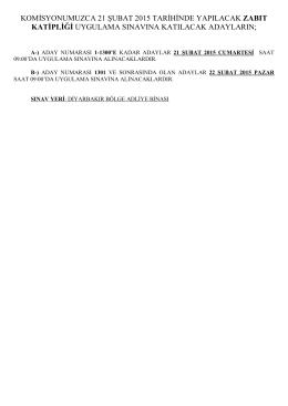 2015 sözleşmeli zabıt katibi uygulama sınavı hakkında duyuru
