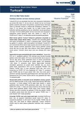 Turkcell - İş Yatırım