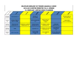 biliciler mesleki ve teknik anadolu lisesi 2014