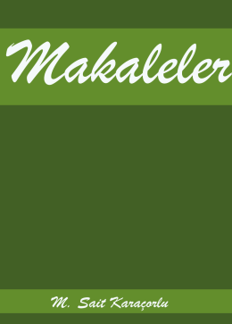 Makaleler - M. Sait Karaçorlu