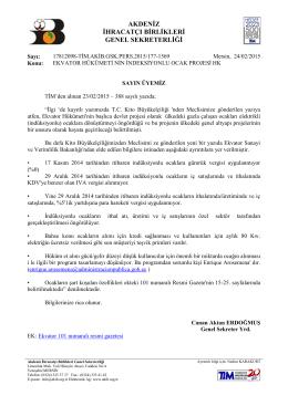 ekvator hükümeti nin indeksiyonlu ocak projesi hk