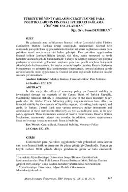 pdf dosyası - Afyon Kocatepe Üniversitesi İktisadi ve İdari Bilimler