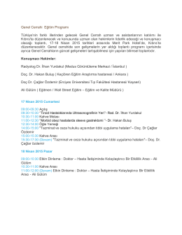 Genel Cerrahi Eğitim Programı Türkiye`nin farklı illerinden
