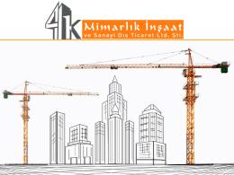 Katalog - 4K Mimarlık İnşaat ve Sanayi Dış Tic.Ltd.Şti.
