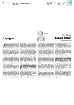 YENİ ÇAĞ [ Ulusal Gazeteler ]