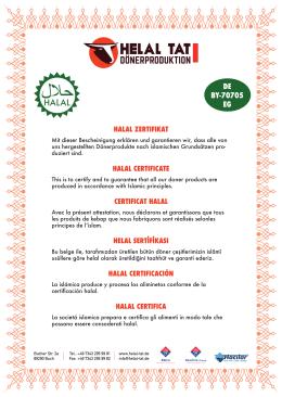 halal zertifikat