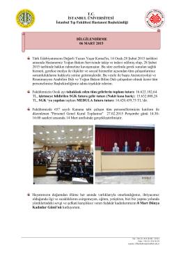 06 Mart 2015 - İstanbul Tıp Fakültesi